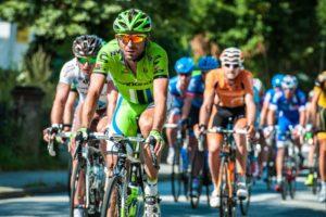 Radlerhosen im Radrennen