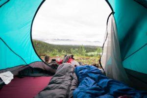 Seidenschlafsack zum Campen